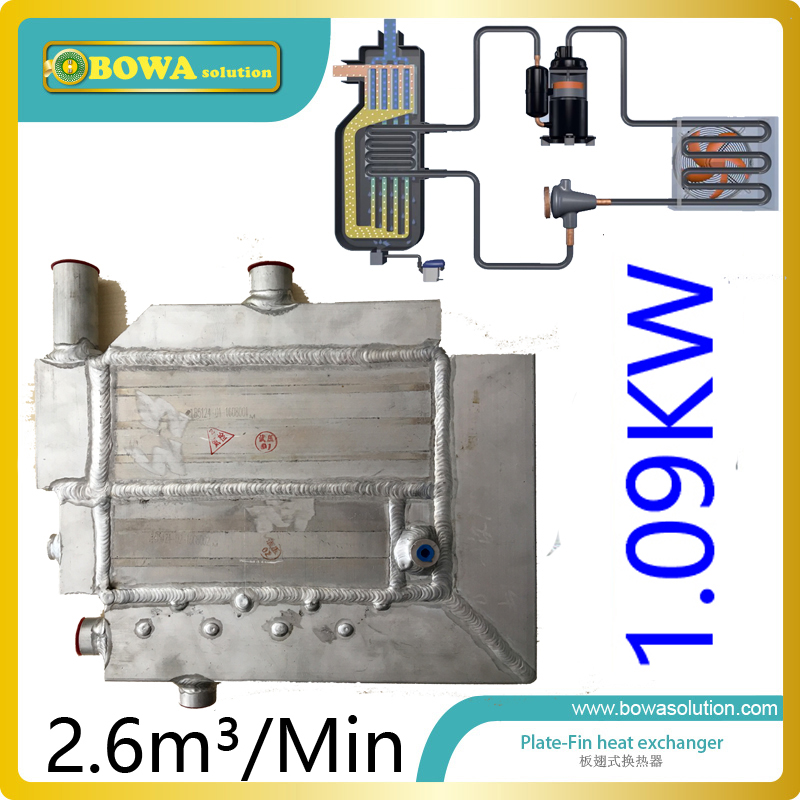 цены 2.6m3/min(cooling 1.09KW) Plate-fin heat exchanger for air dryer machine with drain replace SPX heat exchanger