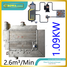 2.6m3/min(cooling 1.09KW) Plate-fin heat exchanger for air dryer machine with drain  replace SPX heat exchanger