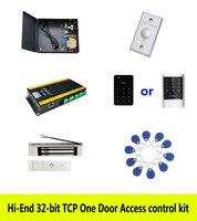 Hi end 32 битный контроля доступа комплект TCP/ip одна дверь + мощность + 180 кг магнитный замок + ID сенсорная клавиатура ридер + кнопка + 10 бирка, sn: