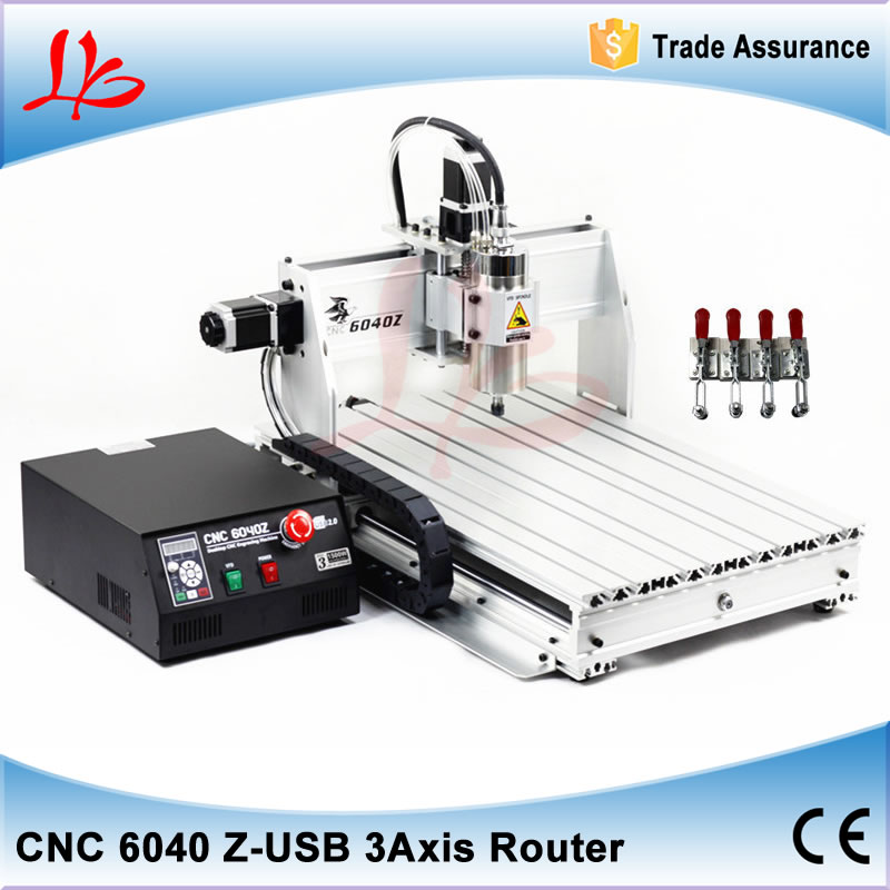 Mini CNC Router 6040 Z-USB 3 axis 1.5KW spindle, USB port, Mach3 auto CNC Milling Machine cnc 5axis a aixs rotary axis t chuck type for cnc router cnc milling machine best quality