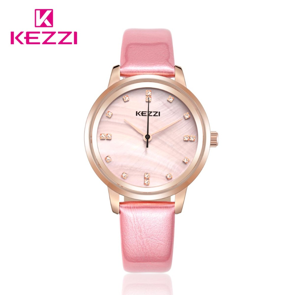 KEZZI Women Fashin Diamond Lleather Strap Watches Luxury Brand Ladies Wristwatches Women Dress Watches Clocks. 2016 fashin reversible skullies