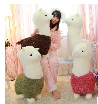 Hot 1pc 26cm/35cm Cartoon Lovely Alpaca Sheep Plush Toy Lovely Soft Stuffed Doll Room Decoration Kids Toy Children Birthday Gift martha plush toy stuffed doll gift christmas gift 26cm