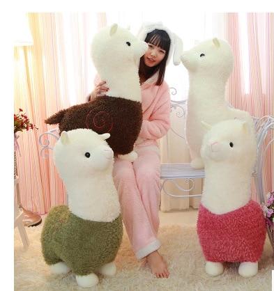 Hot 1pc 26cm/35cm Cartoon Lovely Alpaca Sheep Plush Toy Lovely Soft Stuffed Doll Room Decoration Kids Toy Children Birthday Gift