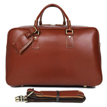 J.M.D High Quality Genuine Leather Travel Bags Luggage Unique Tote Large Capacity Duffel Bag 7156LB