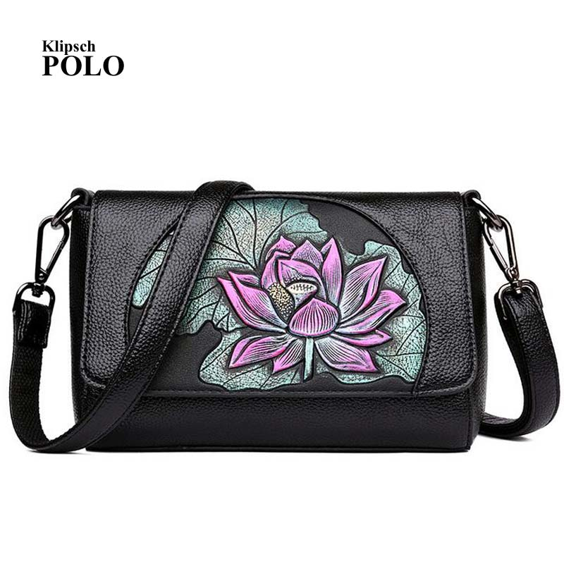 Luxury Brand Flower Flap Bag Women High Quality PU Leather Crossbody Shoulder Bag Square Embroidery Messenger 2018 summer embroidery pu leather women messenger bags small women bag female shoulder crossbody bag floral flap s1007