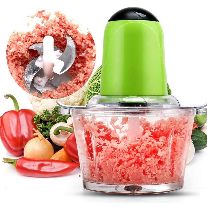 Portable Blender 2L Electric Kitchen Chopper Shredder Food Chopper Meat Grinder Multifunctional Household Food Processor Meat