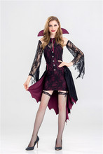 Cos76 steampunk Lolita gothic victorian  Vampire Witch Halloween cosplay suit clothes prom party night clud show one piece dress