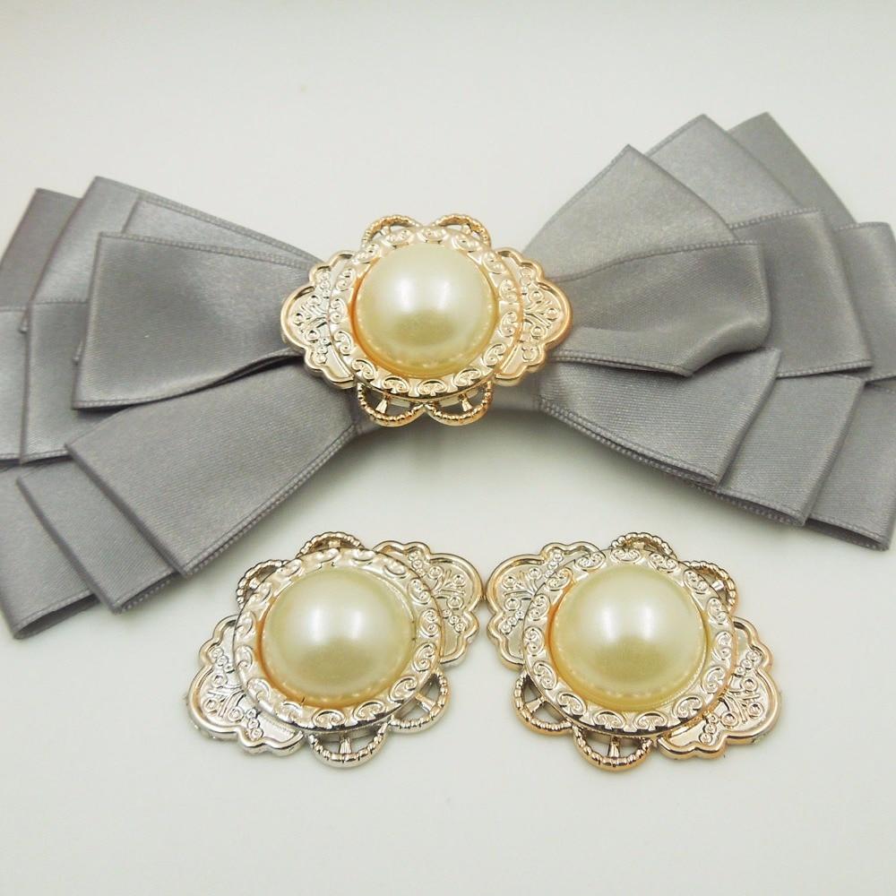 37/30 мм, 15 шт. pearl клей на УФ покрытием цвета розового золота не исчезают застежки для лент, аксессуары Лента слайдер ободок на голову, заколка DIY