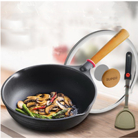 230622 Cast Iron With Frying Pan 28cm Non Stick No Fume Induction Cooker Universal Wok Fine