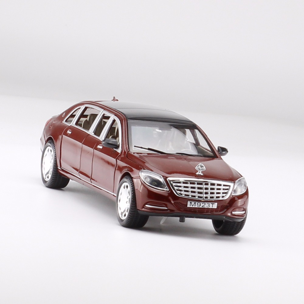 1:24 Scale Maybach S600 Pullman Metal Alloy Vehicle Model Sound ...