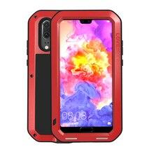 高級 360 度フルボディ保護ケース Huawei 社 P20 Lite プロ P20lite P20Pro 耐衝撃金属とガラスカバー 1080P 20