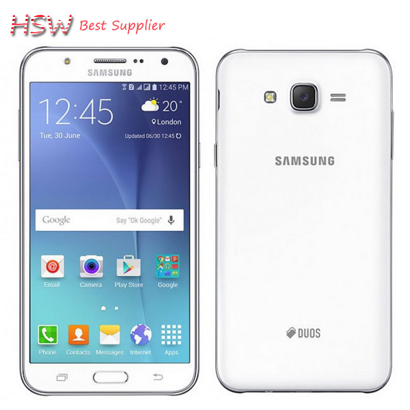 100% teléfono móvil abierto original samsung galaxy j7 5.5 pulgadas octa-core 13