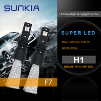 SUNKIA 2pcs H1 Car LED Headlights Fog Light Bulbs 60W White 6000K External Light Auto LED
