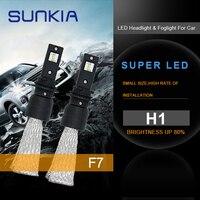 SUNKIA 2pcs H1 Car LED Headlights Fog Light Bulbs 60W White 6000K External Light Auto LED