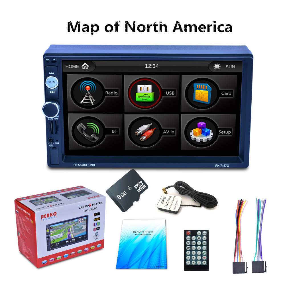 7 Autoradio GPS Bluetooth Navigation Car Stereo MP5 Player Touch Screen Support Hands-free Call7 Autoradio GPS Bluetooth Navigation Car Stereo MP5 Player Touch Screen Support Hands-free Call