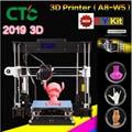2019 Verbeterde A8-W5 3D printer Reprap i3 mondstuk aluminiumlegering Pritner focus DIY Kit filament hervatten stroomuitval