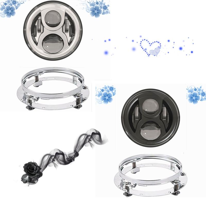 Sealed Beam 7 Daymaker LED Headlamp Motorcycle Headlight LED Head light bracket Extension Trim Ring For Harley Davidso Touring