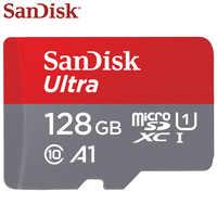 100% SanDisk Ultra Scheda di Memoria 128GB 64GB SDHC Classe 10 A1 UHS-I Micro SD Card Max Velocità di Lettura 98 m/s 16GB 32GB Carta di TF Microsd