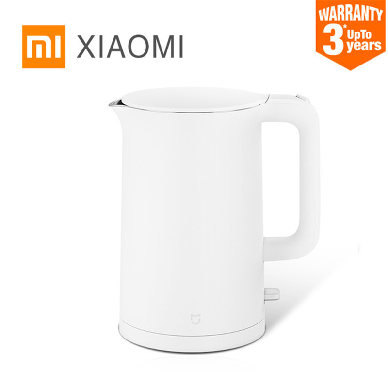 цена на xiaomi electric kettle fast boiling 1.5 L household stainless steel smart electric kettle