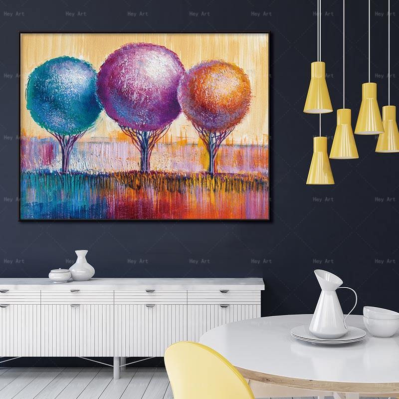 Posters for Kids Pictures Decor Prints Colorful Balloon Abstract No Frame Canvas Painting Living Room Wall Art in Painting Calligraphy from Home Garden