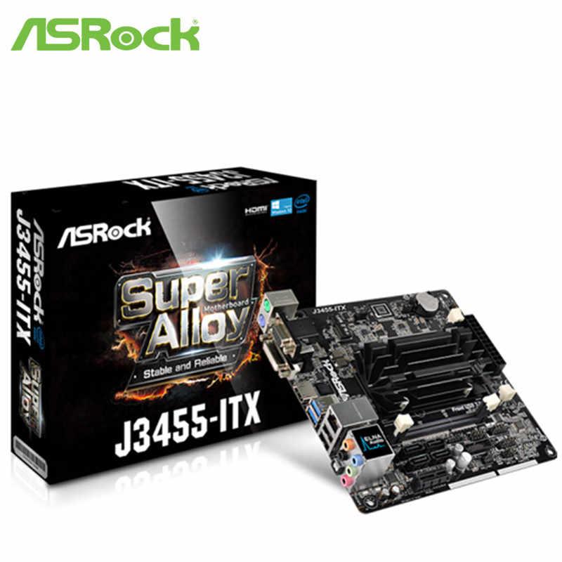 Full mới Ban Đầu Bo Mạch Chủ ASROCK J3455-ITX Mini Tích Hợp CPU Quad Core Bo Mạch Chủ