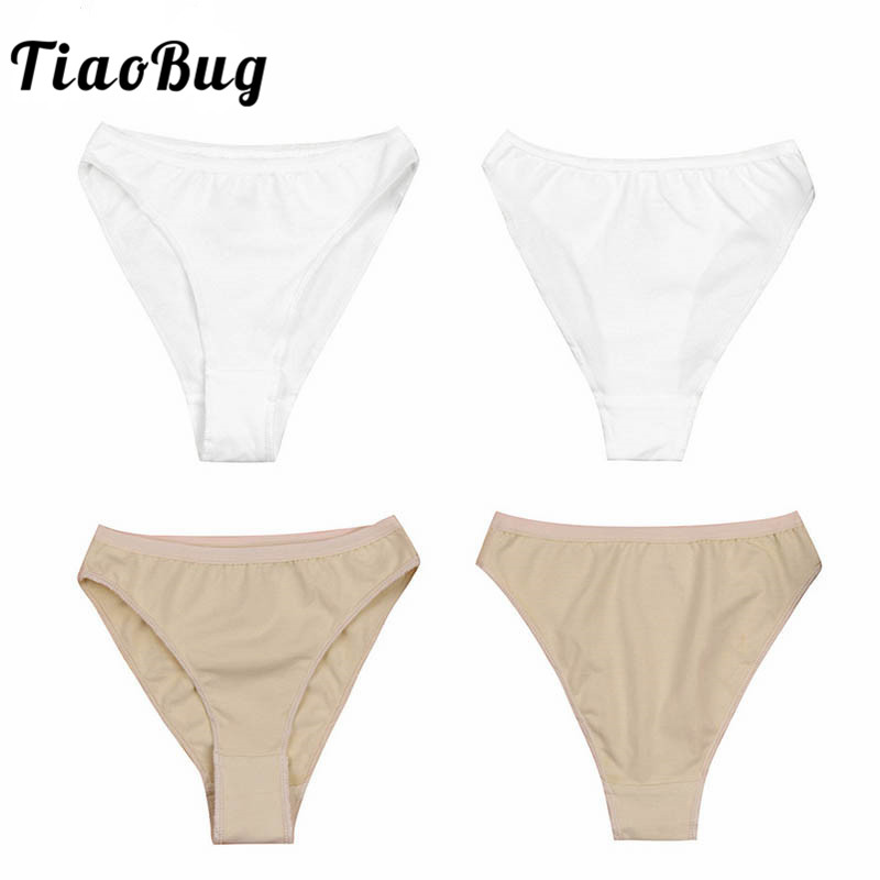 TiaoBug Kids High Cut Ballet Dance Briefs Underwear Underpants Cute Girls Ballet Dance Gymnastics Bottom Ballerina Dance Panties
