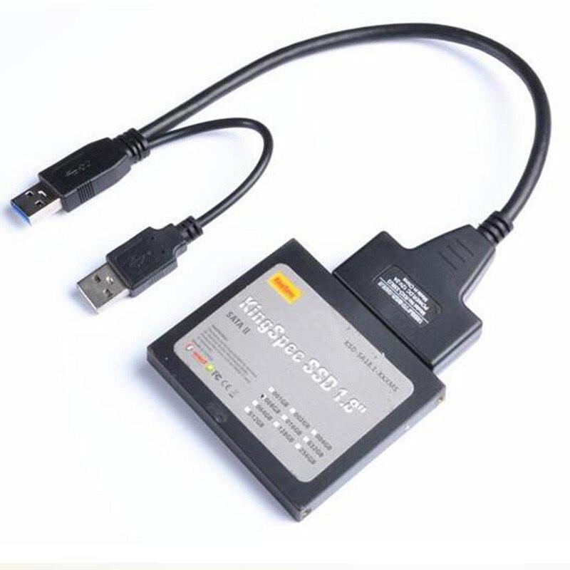 Super Velocidad USB 3.0 A SATA 7 + 15 Pin 22 Pin Cable Adaptador Para Disco Duro De 2,5