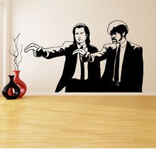 Wall Decal Vinyl Sticker Banksy Pulp Fiction Graffiti Guys with Color Banana Pistols Two Men in Dinner Jackets Art Mural DY24