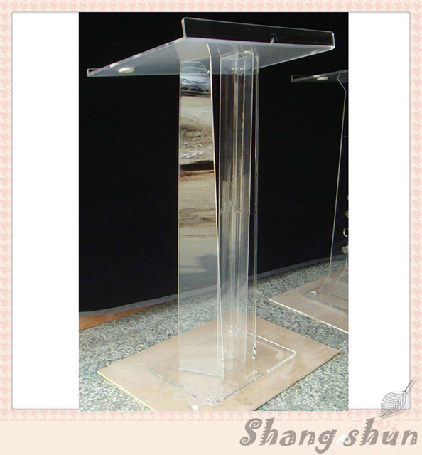 Crystal Acrylic Lectern Glass Pulpit For Church Church Lectern Office Furniture Podium Acrylic Church Podiums