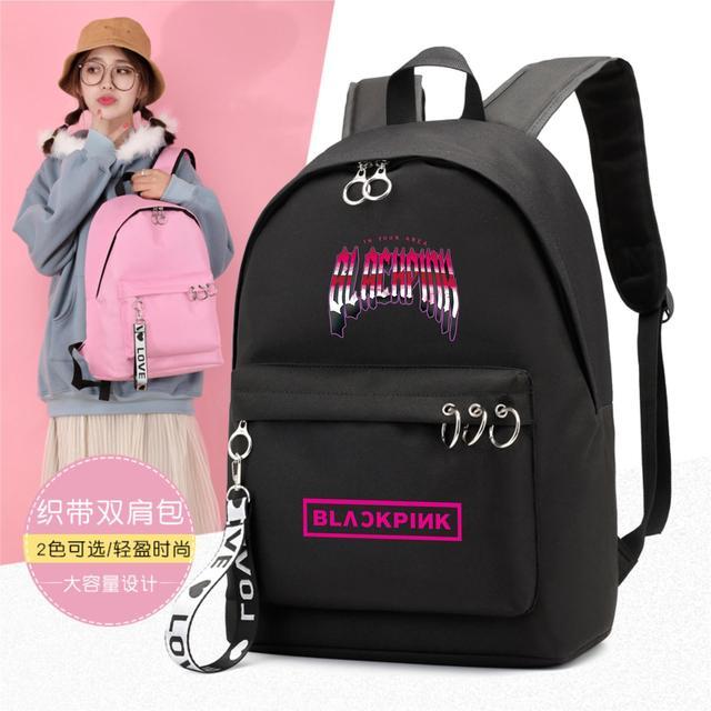 Nova kpop concerto blackpink MATAR ESSE AMOR Mochila Escola Bags para Adolescentes coreano mochila de viagem bookbag bag pack