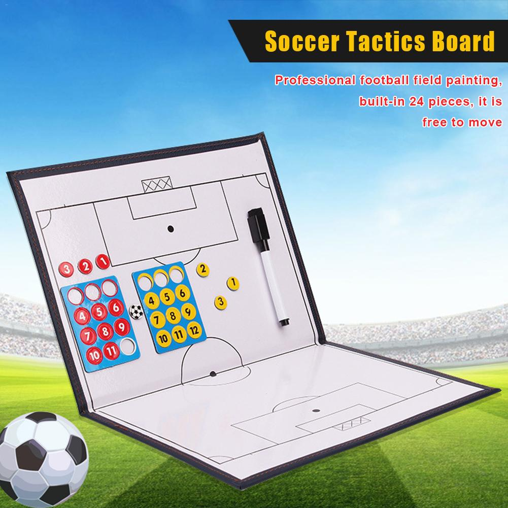 1Pcs Magnetic Soccer Coach Board Folding Football Coaching Tactics Tactical Plate Book Set With Marker Pen Clipboard