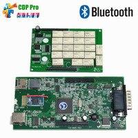 10pcs/lot Green Board CDP OBDIICAT TCS Plus Bluetooth 2016 keygen as MVD Multidiag pro OBD2 scanner cars trucks diagnostic tool