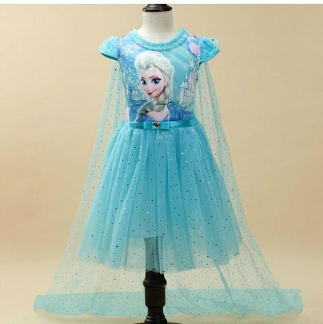 ילדי שמלת קיץ בנות אנה אלזה סופיה נסיכת בנות בנות קוספליי תחפושת המפלגה מלכת שלג תינוק פנטזיה בנות שמלות