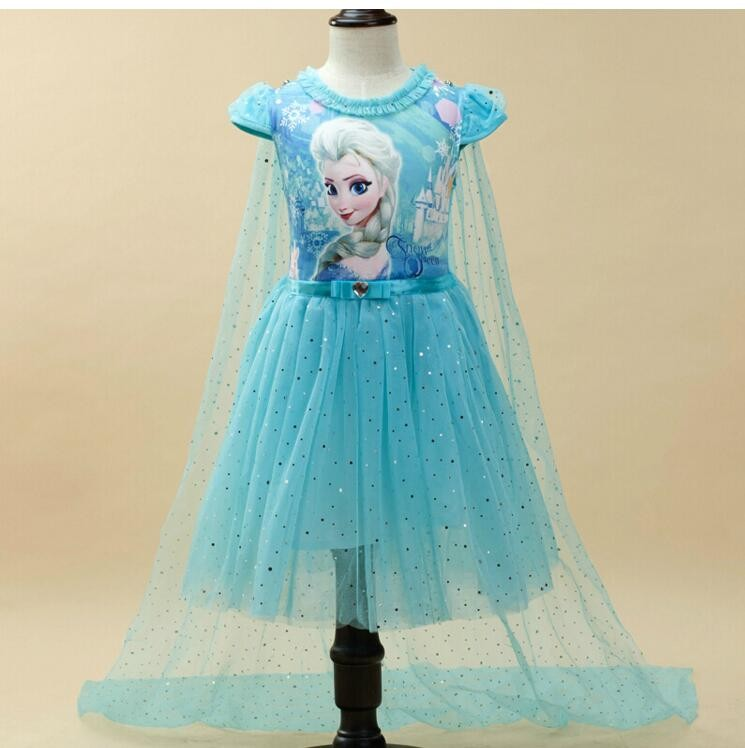 Summer Anna Elsa Girls Dress Kids Sofia Princess Girls Dress Party Costume Cosplay Snow Queen Fantasy Baby Girls Dresses