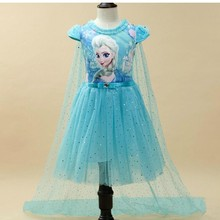Vestido de verano de Anna Elsa para niñas, vestido de Princesa Sofia para niñas, disfraz de fiesta, disfraz de reina de la nieve, vestidos de fantasía para niñas