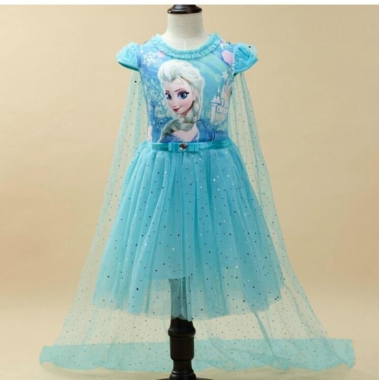 Verano Anna Elsa vestido niñas vestido princesa niñas vestido de fiesta traje Cosplay fantasía de la Reina de la nieve niñas vestidos