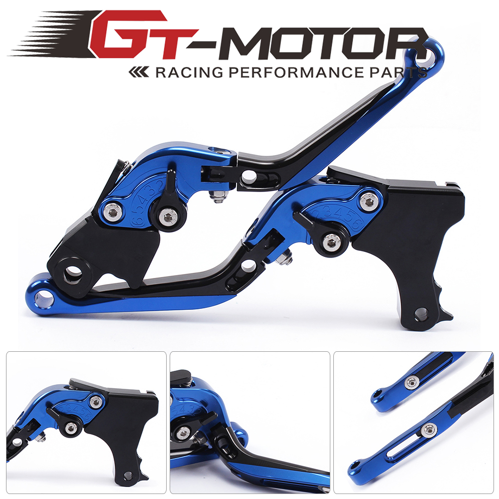 GT Motor - B-1/B-8  Adjustable CNC 3D Extendable Folding Brake Clutch Levers For BMW F800R	09-17  F800GT	13-17  F800S 06-14 adjustable folding extendable brake clutch levers for bmw k1300 s r gt k1600 gt gtl k1200r sport r1200gs adventure 8 colors
