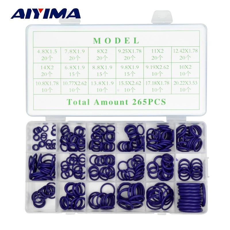 265pcs Rubber O Ring Oring Seal Plumbing Garage Set Kit 18 Sizes With Case цена