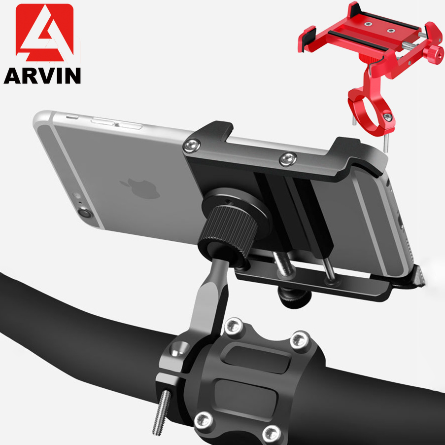 ARVIN Aluminum Motorcycle Bicycle Phone Holder 360 Rotation For IPhone 8 X Universal Bike Mobile Phone GPS Mount Handlebar Stand