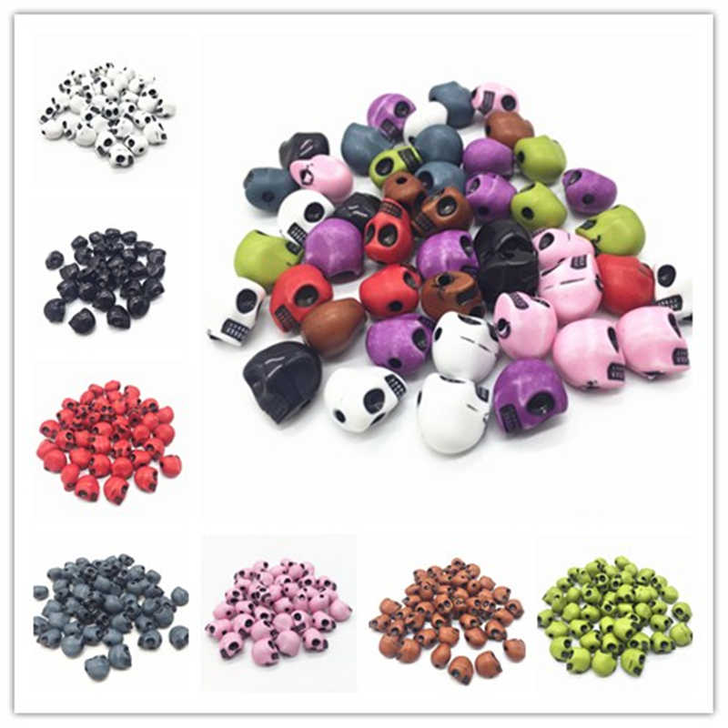 Wholesale New 10x13mm 20pcs Acrylic Skull Beads Strand Bracelets Necklace DIY