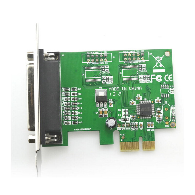 New Printer DB25 Parallel Port LPT to PCI-E PCI Express Card Adapter Converter