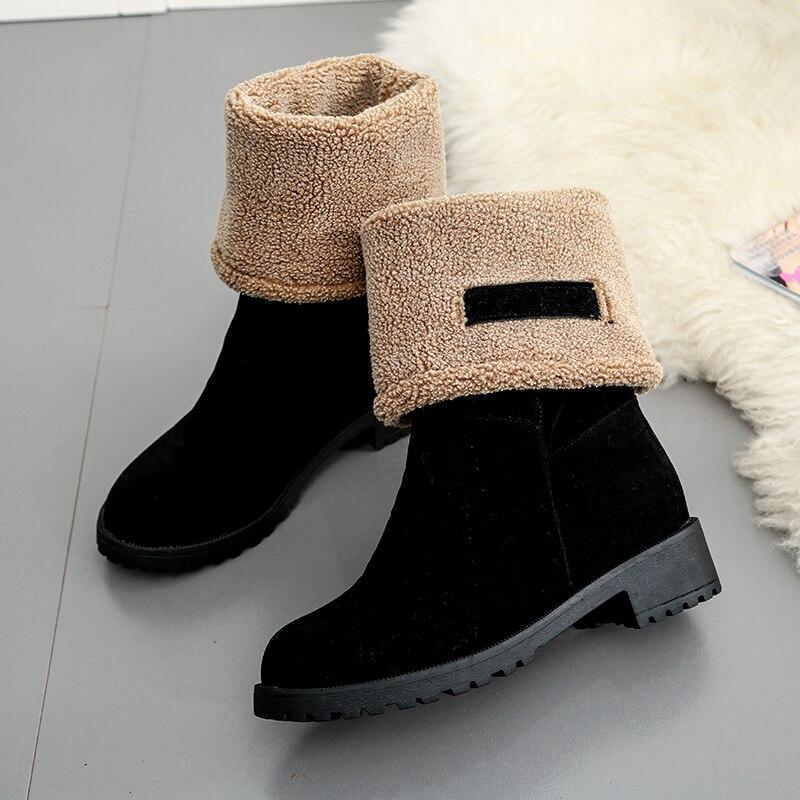 Shop black Snow Boots shoes Warm slip on Boots