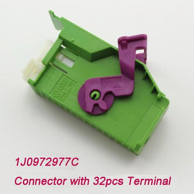 1Kits 1J0972977C 1719057-1 Automotive Connector ECU Terminal For Instrument Dashboard Plug Connector Audi VW Seat Skoda TYCO AMP
