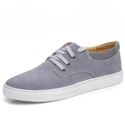 7 Colors New Plus Size Men Shoes Low Casual Leather Shoes Men Fashion Suede Lace UP Men Flat Shoes Zapatos Hombre Size 45.46.47 klywoo new white fasion shoes men casual shoes spring men driving shoes leather breathable comfortable lace up zapatos hombre