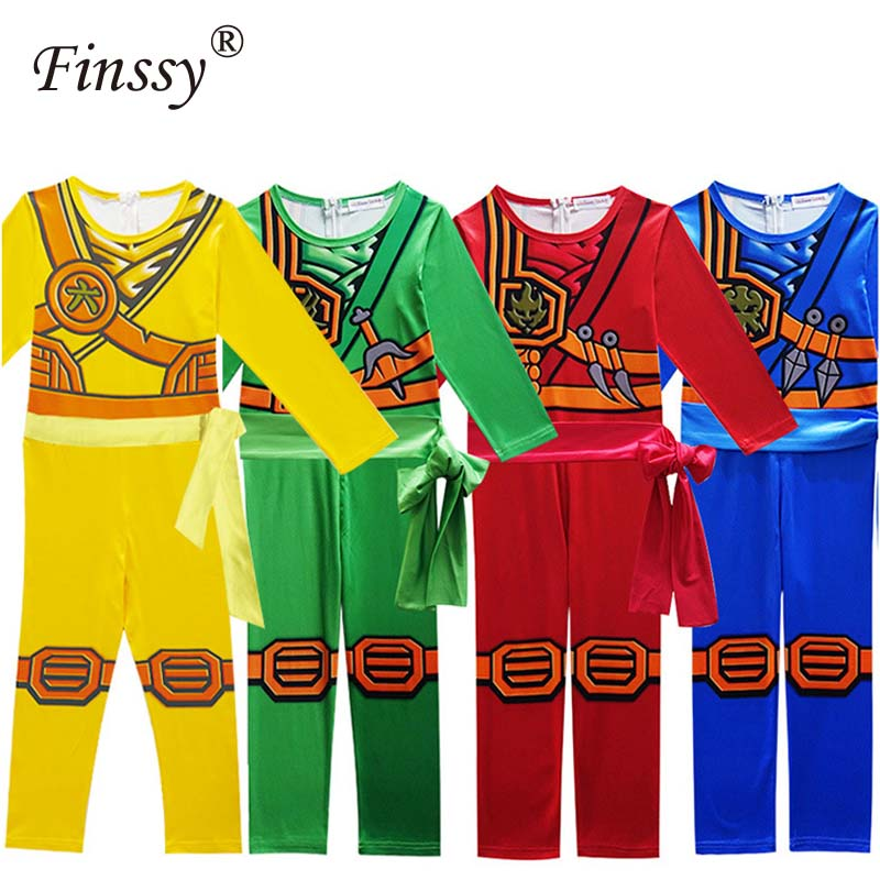 Boys Ninjago Cosplay Costume Halloween Birthday Carnival Dance Party Performance Costume Including Mask