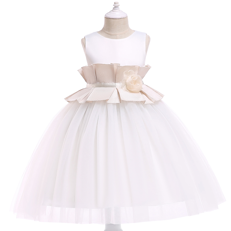 BOTEZAI Flower Girl Dress Summer Princess Wedding Birthday Party Dresses For Size 2 6 Years in Dresses from Mother Kids
