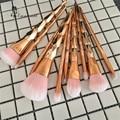 New Spiral Unicorn Rose Gold 10Pcs Pro Makeup Brushes Set Contour Powder Eyeshadow Lip Blush Foundation Powder Kabuki Brush Set