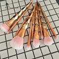 Nova Espiral Unicórnio Rosa de Ouro 10 Pcs Pro Makeup Brushes Set Pó Contour Eyeshadow Lip Blush Em Pó Foundation Pincel kabuki conjunto