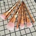 Nueva Espiral Unicornio de Oro Rosa 10 Unids Pinceles de Maquillaje Pro Set Contour Powder Sombra de Ojos Labios Colorete Polvos Base maquillaje Kabuki Cepillo conjunto