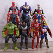 Мстители 3 Бесконечность войны фигурки игрушки набор Железный человек Халк танос Человек-паук Тор видение муравей-человек Локи Капитан Америка детские игрушки